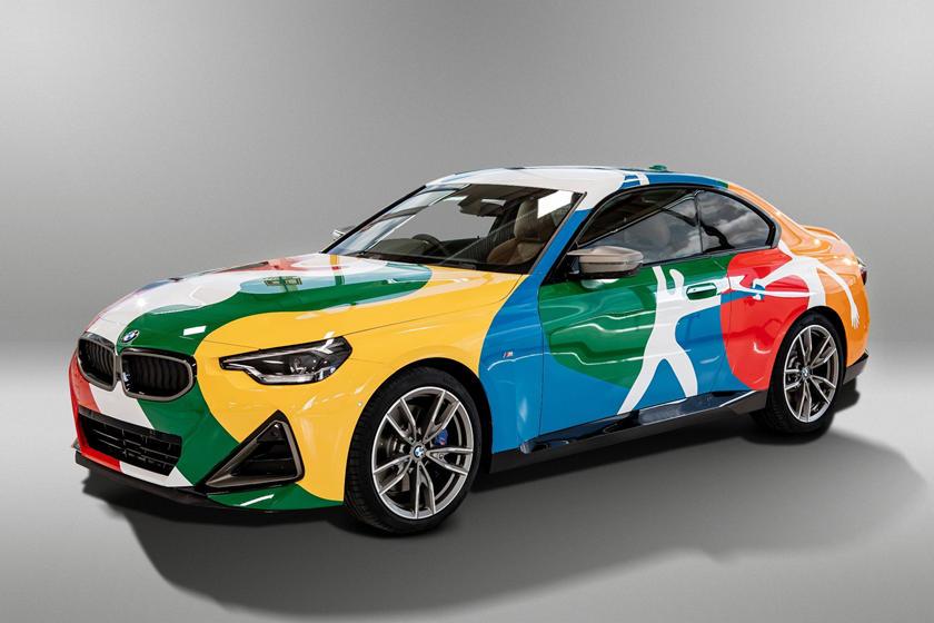 宝马最新的艺术车有墨西哥风格
